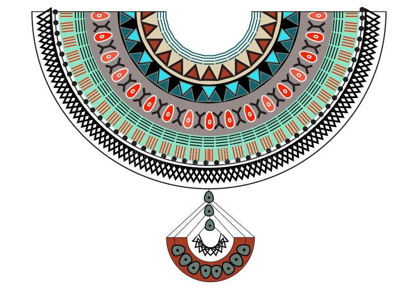 Textildesign für Kragenhemden, aztekischer geometrischer Druck stockfoto