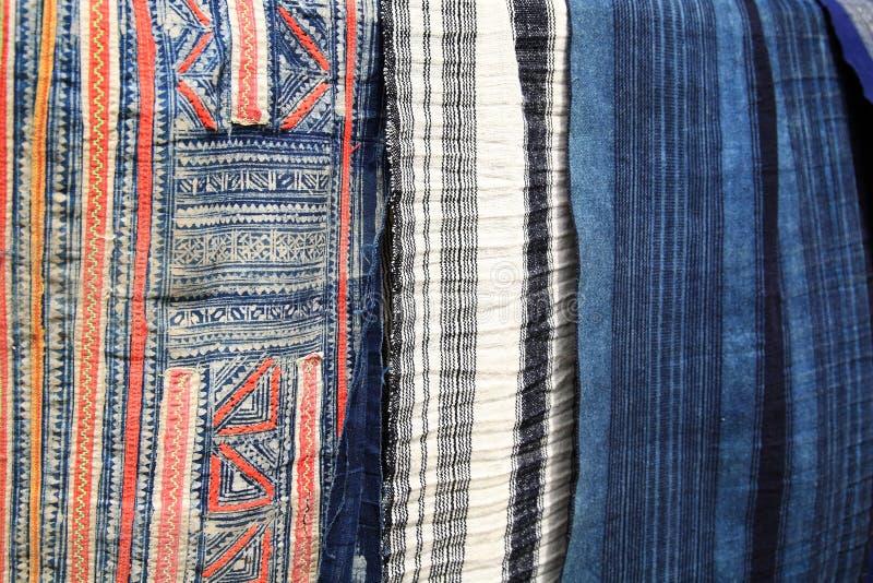 textile coloré de tribu de colline de Sapa photo stock