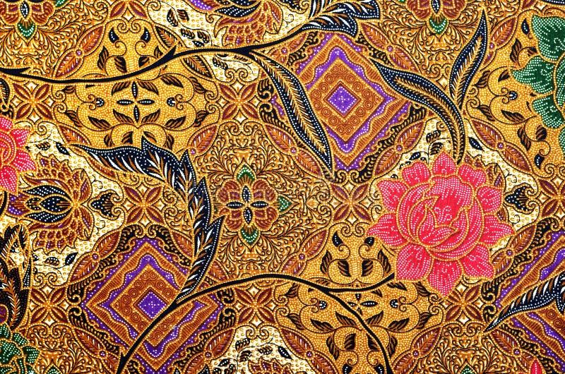 Textile de modèle et de batik illustration de vecteur