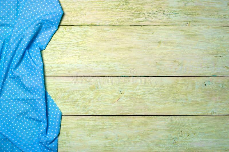 Textile de nappe sur en bois photos libres de droits