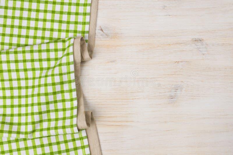Textile de nappe sur le fond en bois blanchi image libre de droits