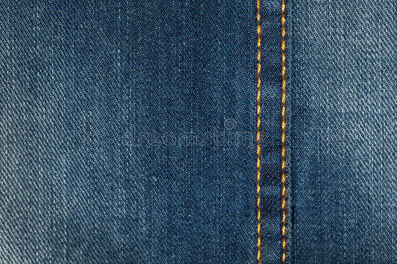 Textile - Fabric Series: Jeans Stitches royalty free stock photography