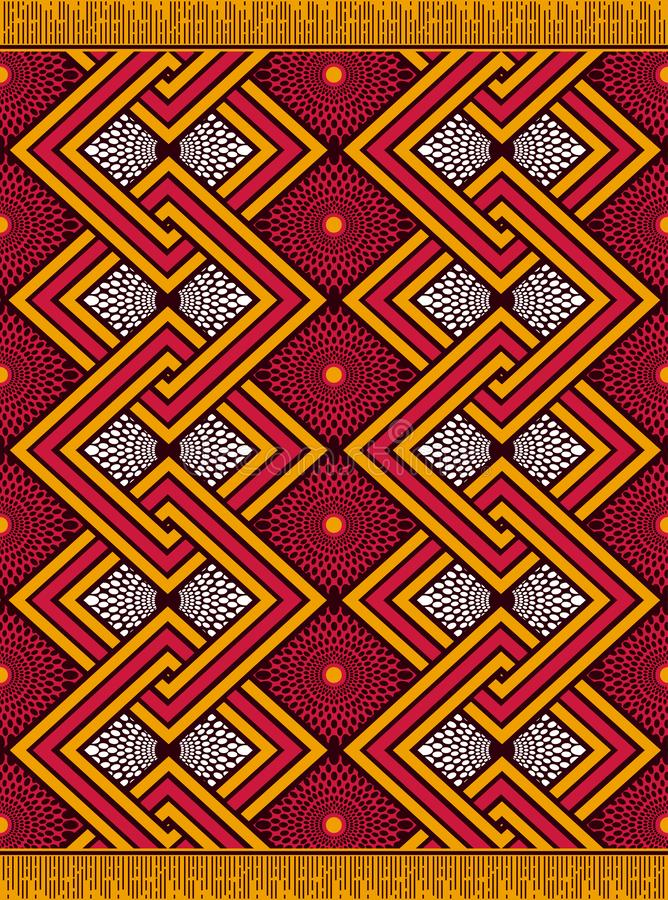 Textile fashion african Ankara print vector illustration