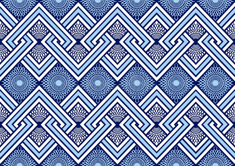 Textile fashion african print fabric super wax vector illustration