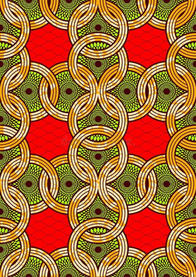 Textile fashion african print fabric super wax royalty free illustration