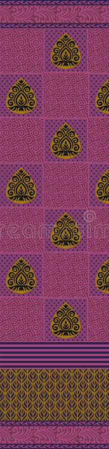 Traditional pallu and ALLOVER PATTERN ART design for print. Textile Indian ornament pattern art design Seamless Paisley beautiful Pattern Indian Seamless royalty free illustration