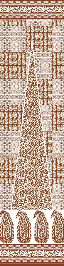 TEXTILE traditional pallu and ALLOVER PATTERN ART design for print. Textile Indian ornament pattern art design Seamless Paisley beautiful Pattern Indian Seamless royalty free illustration