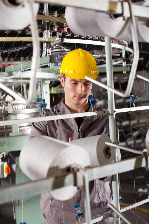Textile industrial worker royalty free stock photography
