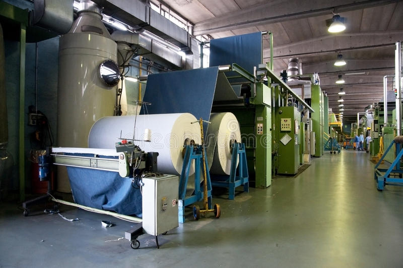 Textile industry (denim) - Finishing royalty free stock photos