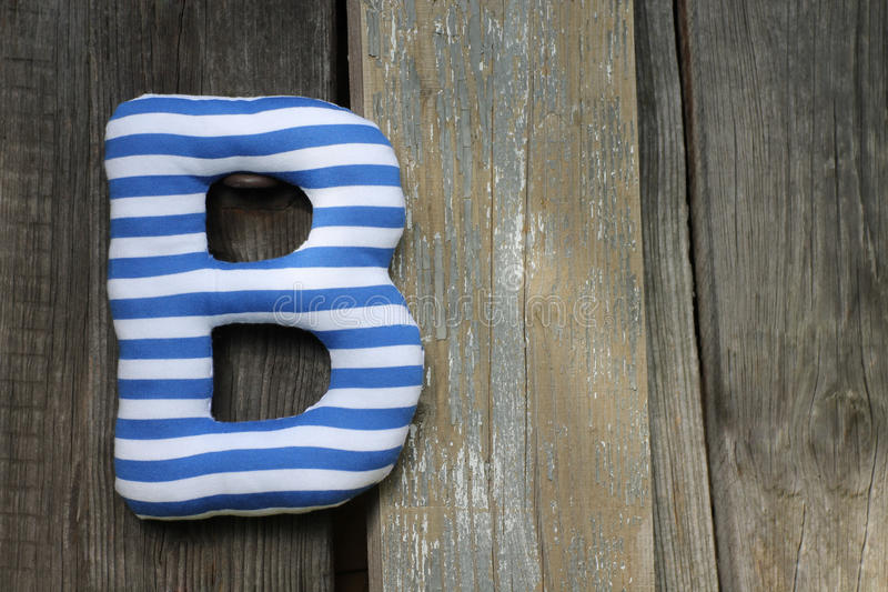 Textile letter royalty free stock image