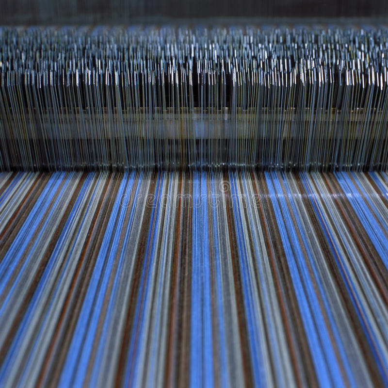 Textile machine. Close up of textile machine royalty free stock photo
