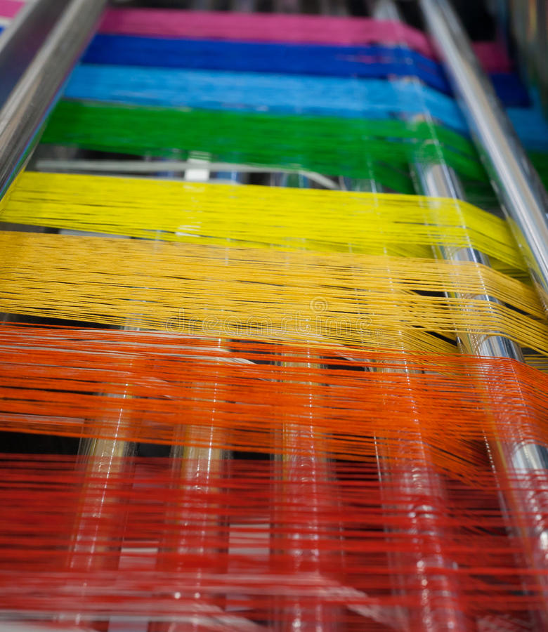 Textile machine royalty free stock images