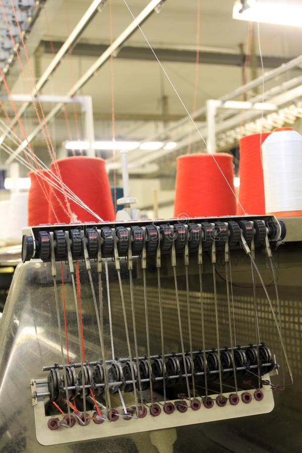 Textile Machinery stock image
