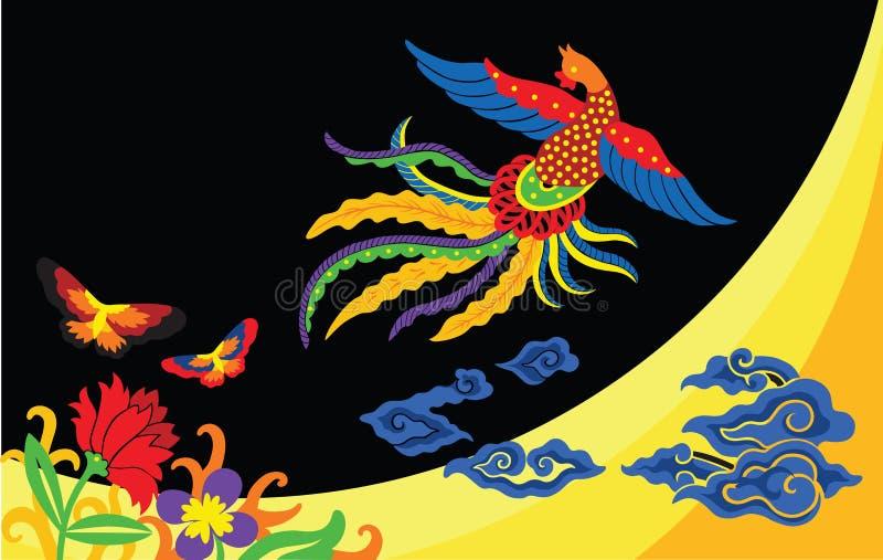 Textile ornemental d'élément de batik indonésien illustration stock