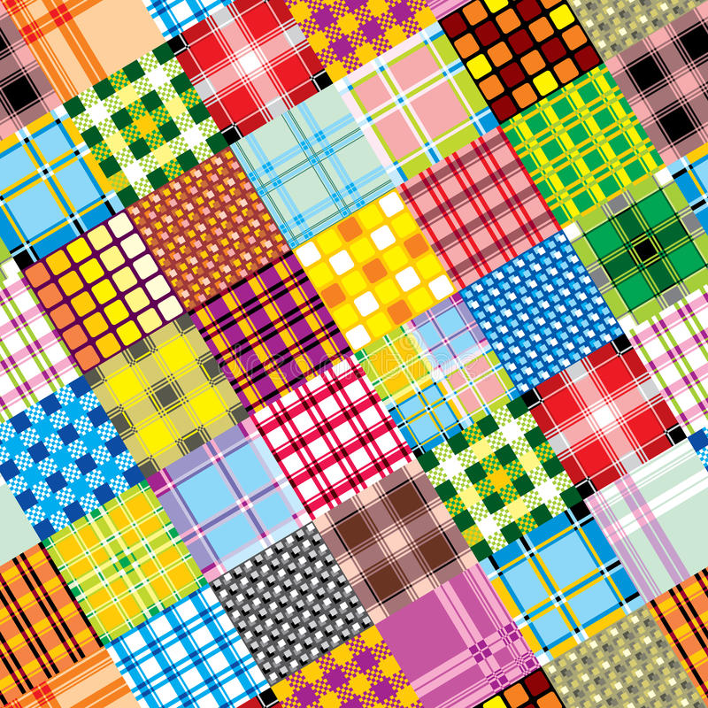 Textile patchwork square stock illustration