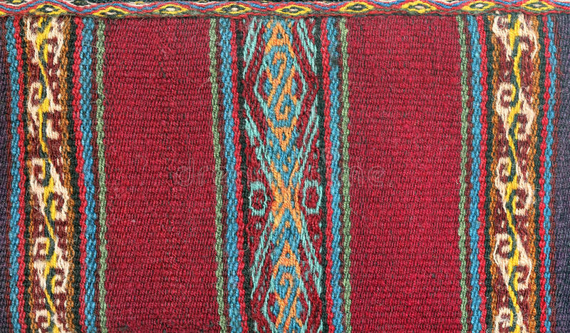 Textile pattern. Traditional South America Textile pattern stock photo