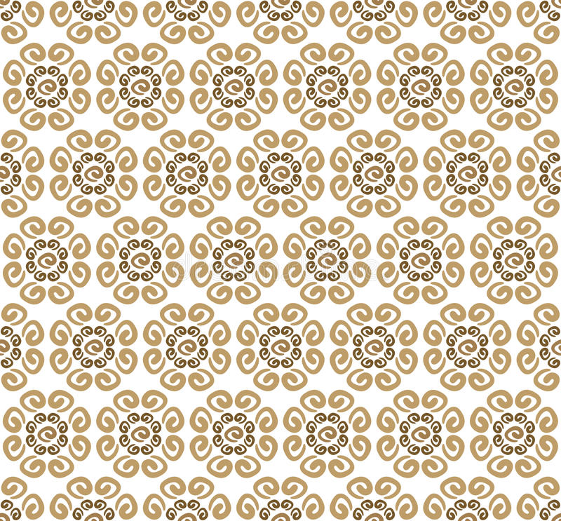 Textile pattern with coffee swirls vector illustration