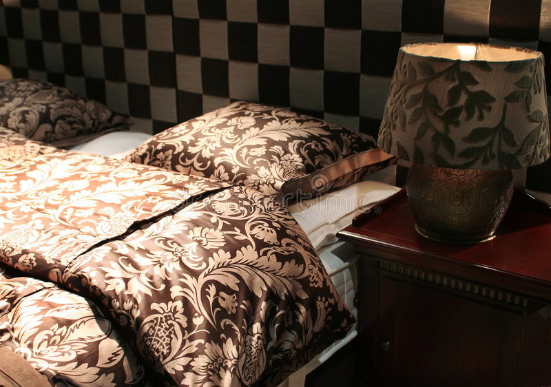 Textile pour la chambre à coucher photographie stock