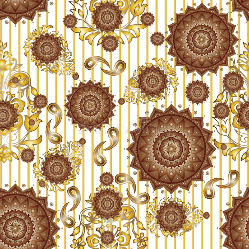 Textile Seamless pattern design for woman wears royalty free illustration