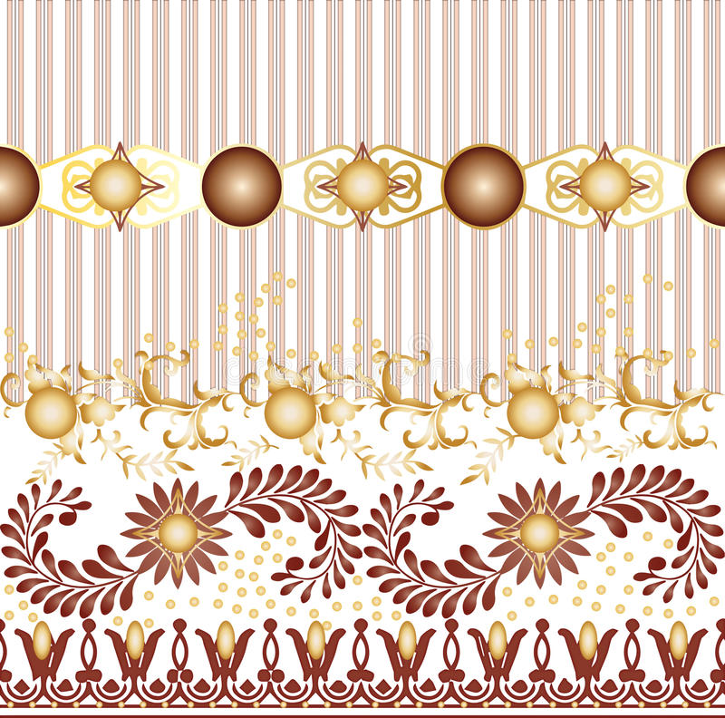 Textile Seamless pattern design for woman wears stock illustration