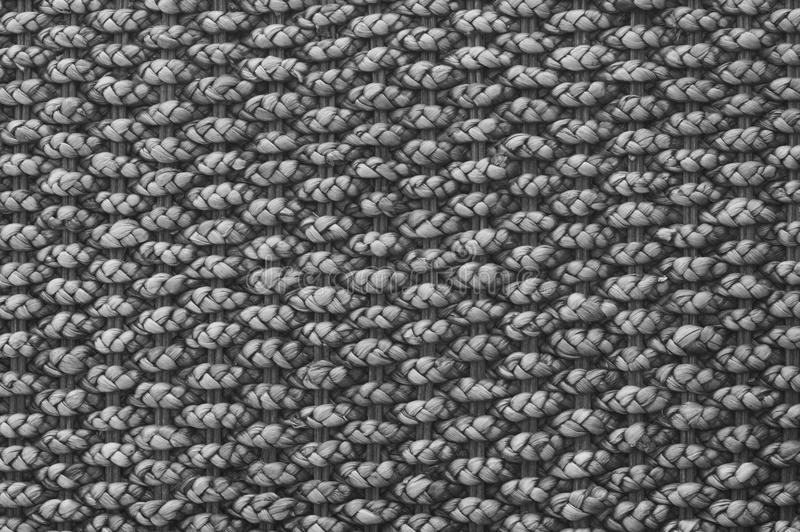 Textile texture in black and white stock image