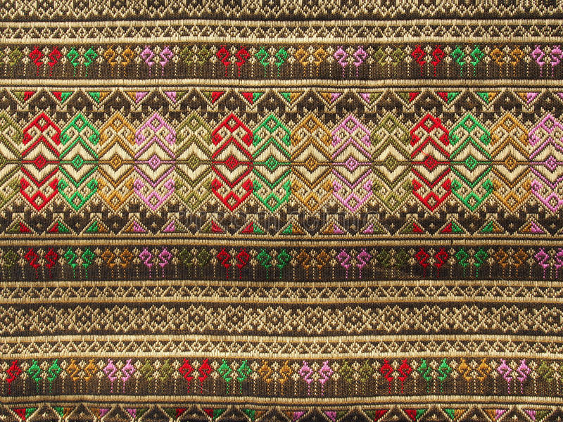 Textile thaïlandais photographie stock libre de droits