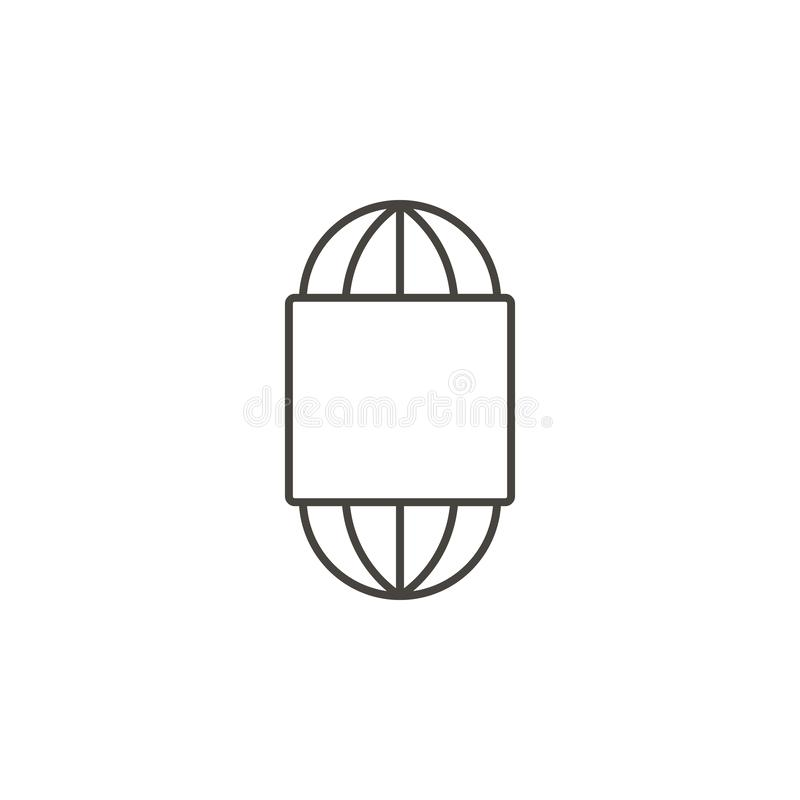 Textile thread, thread wool icon - Vector. Simple element illustration natural concept. Textile thread, thread wool icon - Vector royalty free illustration