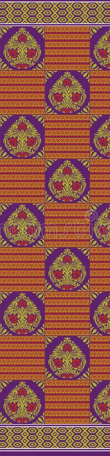 TEXTILE traditional pallu and ALLOVER PATTERN ART design for print. Textile Indian ornament pattern art design Seamless Paisley beautiful Pattern Indian Seamless stock illustration