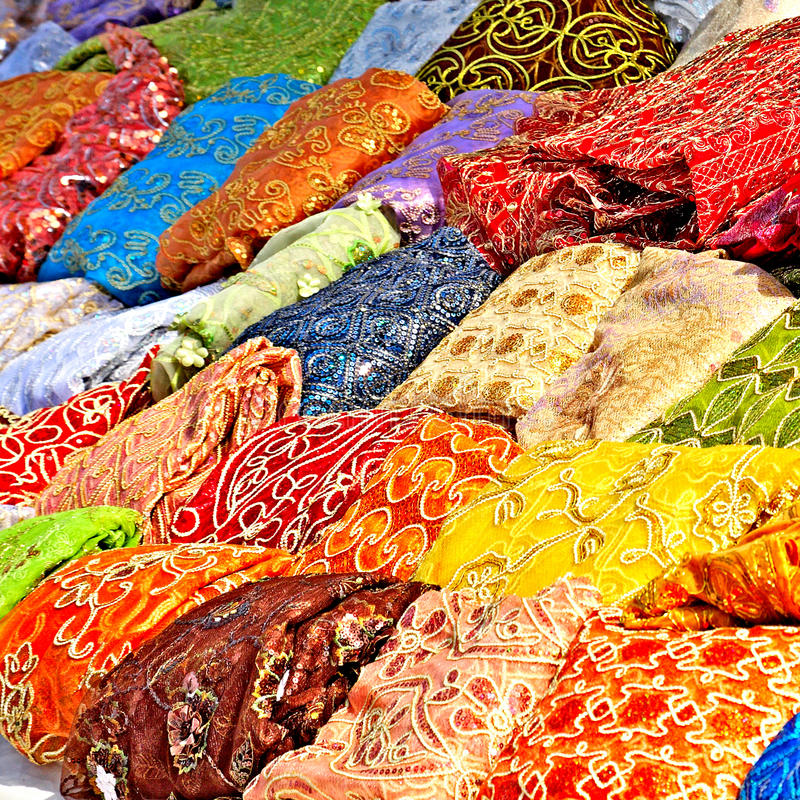 Download Textile In Tunisian Market Royalty Free Stock Photos - Image: 19517338