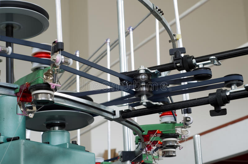 Download Textile Weaving Manufacture Machine Royalty Free Stock Photos - Image: 25037508
