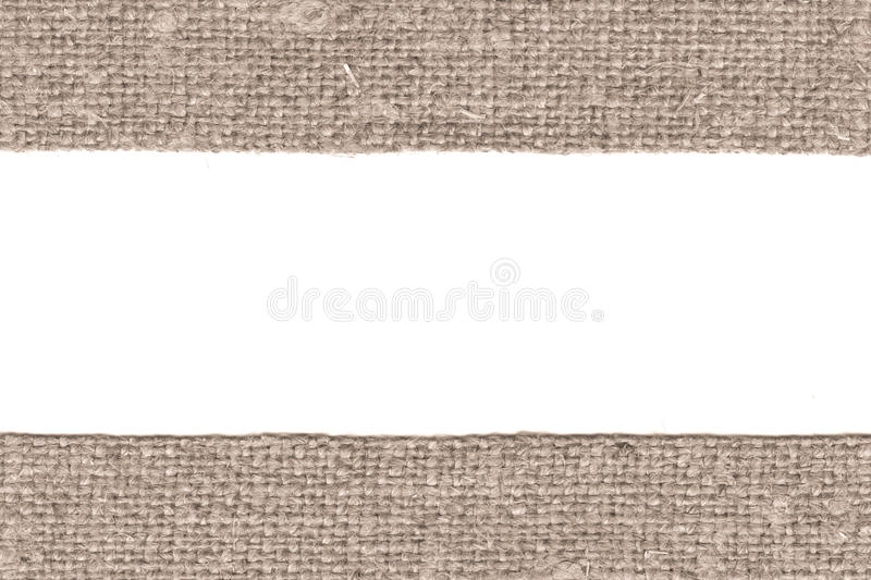 Textile weft, fabric patch, brown canvas, antique material, retro-styled background. Textile weft, fabric patch, brown canvas, antique material retro-styled stock image