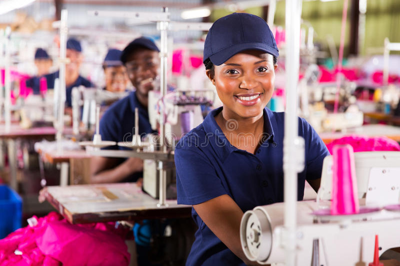 Textile worker factory royalty free stock image