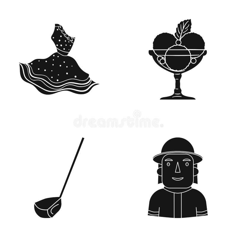 Textiler, kafé, yrke och annan rengöringsduksymbol i svart stil man brandman, likformig, symboler i uppsättningsamling vektor illustrationer