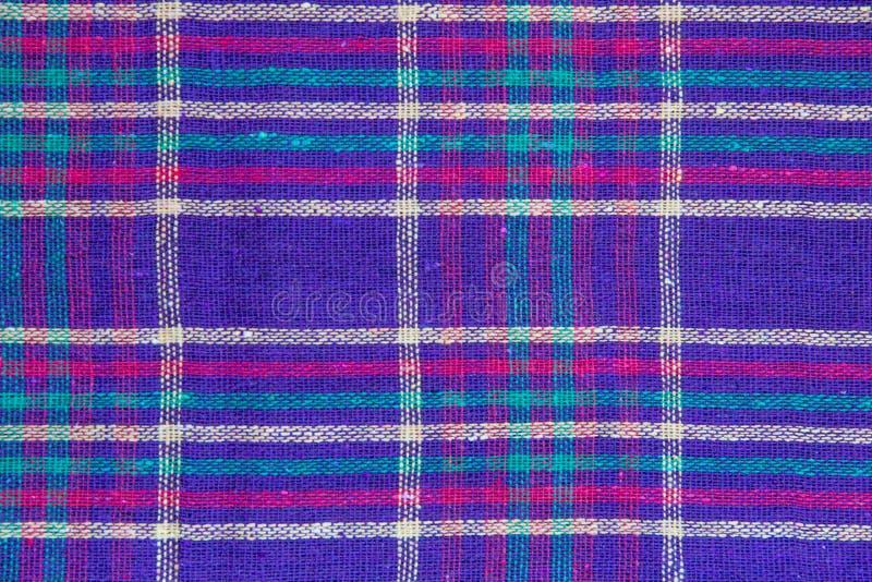 Textiles de plaid comme fond images stock