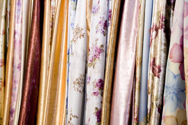 Textiles colorés photo stock