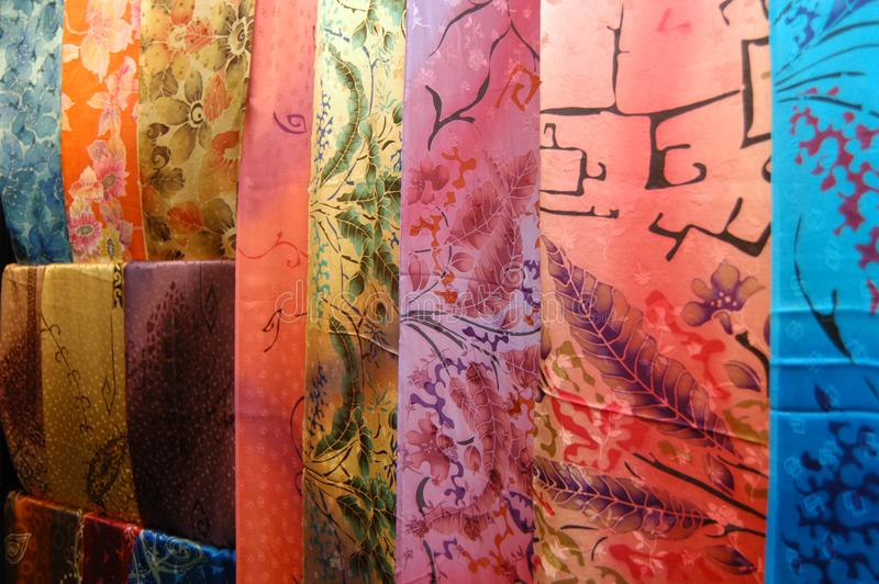 Textiles de batik photos libres de droits