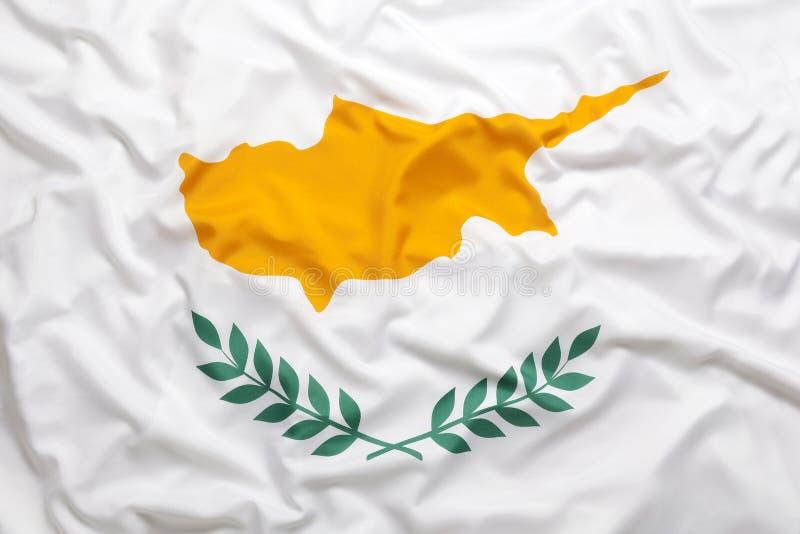 Textilflagge von Zypern lizenzfreie stockfotografie