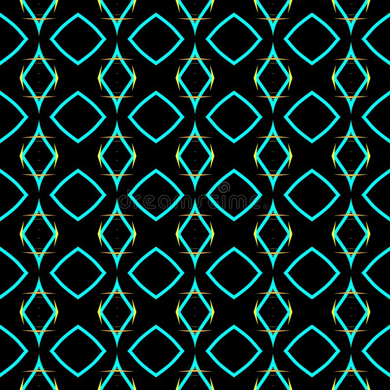 Textilien für Tapeten und Gewebe Doppelte Elemente Dekoration Nahtlose Verzierung Abstrakte Textur Nahtloser Hintergrund lizenzfreie stockfotografie