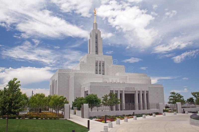 Textilkaufmann, Utah-Tempel der LDS-Kirche lizenzfreie stockfotos