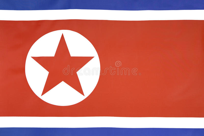 TextilNordkorea flagga arkivfoton