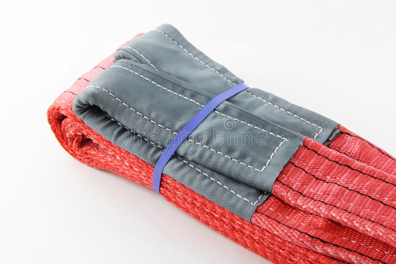 Textilsadelgjordsvävrem royaltyfria foton