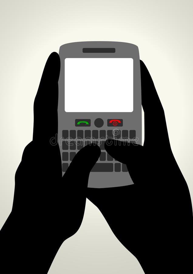 Download Texting stock vector. Image of chatting, phone, graphic - 25885939
