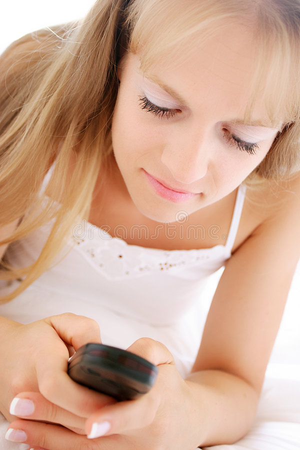 Texting stock foto's