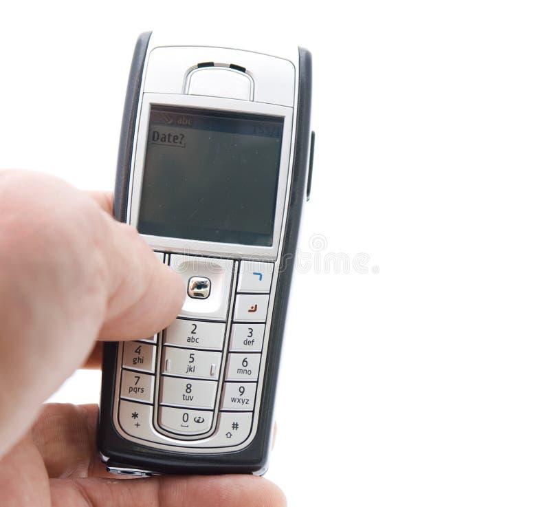 Texting com móbil fotografia de stock