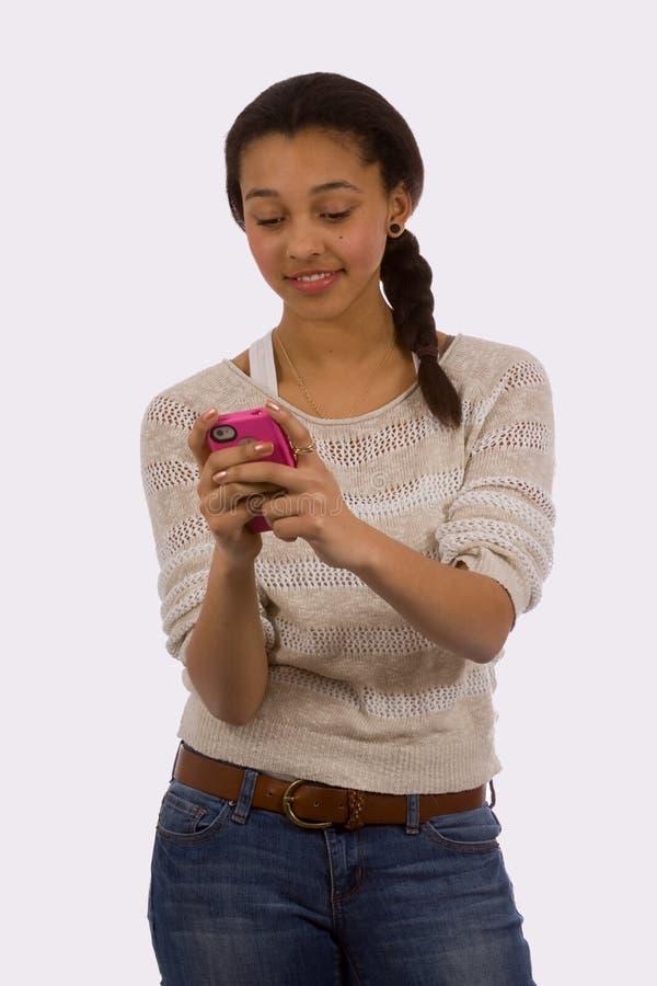 Texting de l'adolescence photos stock