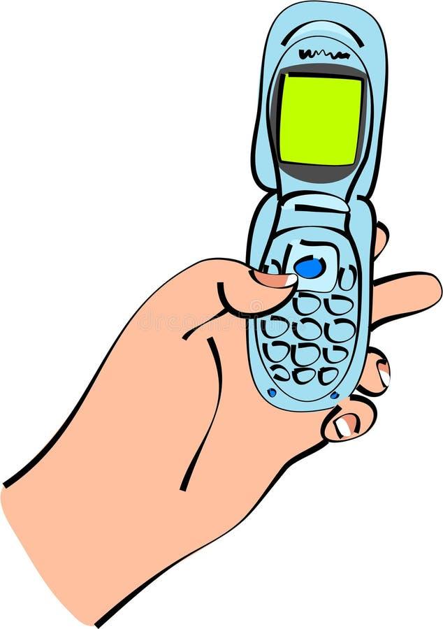 Texting hand vector illustration