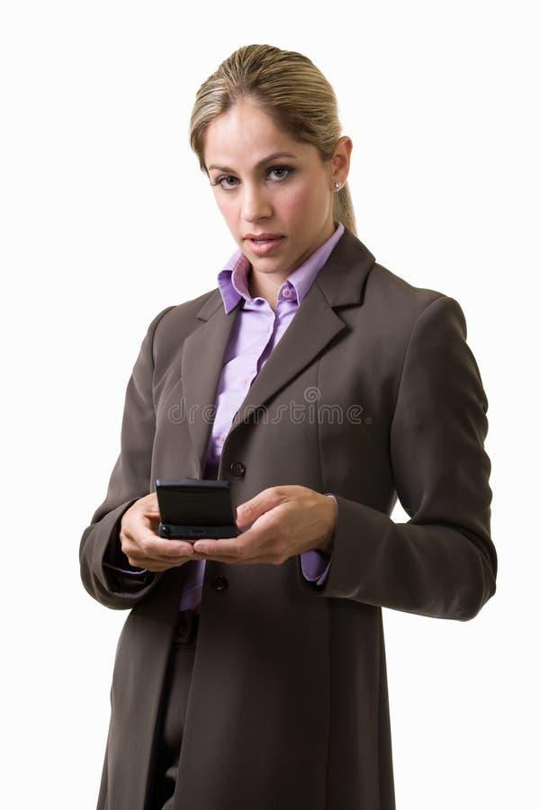 texting kvinna arkivbilder