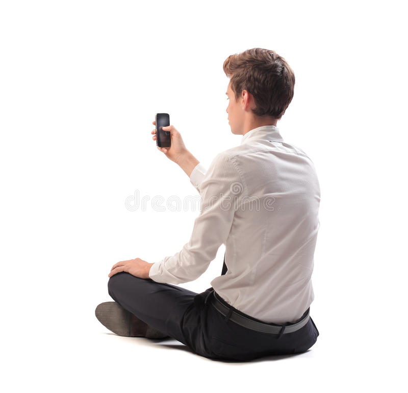 Texting A Message Stock Image