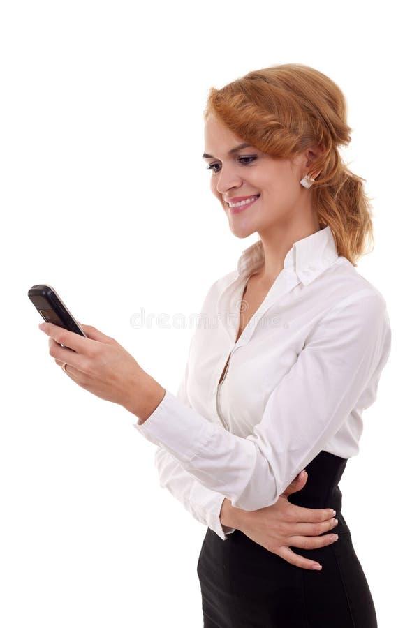 Download Texting No Telefone De Pilha Foto de Stock - Imagem de cheerful, cute: 16865876