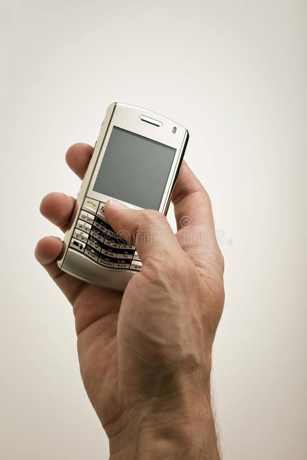 Free Texting On PDA Royalty Free Stock Photography - 10505607